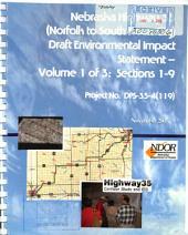 Nebraska Highway 35 (N-35) Corridor, Norfolk, Nebraska to South Sioux City, Nebraska, Madison, Stanton, Wayne, Dixon, and Dakota Counties: Environmental Impact Statement, Volume 1