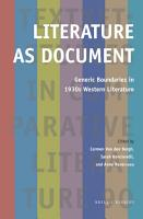 Literature as Document PDF