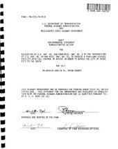 US-49W, Yazoo City Bypass Relocation, Yazoo County: Environmental Impact Statement
