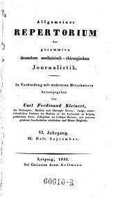 Allgemeines Repertorium der gesammten deutschen medizinisch-chirurgischen Journalistik. In Verbindung mit mehreren Mitarb., hrsg. von Carl Ferdinand Kleinert