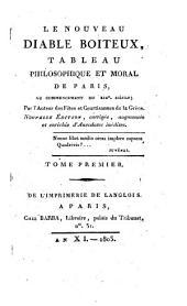 Le nouveau diable boiteux: tableau philosophique et moral de Paris, au commencement du XIXe siècle, Volume1