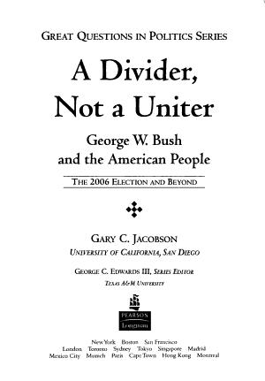 A Divider  Not a Uniter PDF