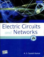 Electric Circuits And Networks  For Gtu  PDF