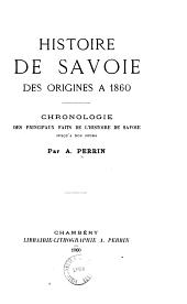 Histoire de Savoie, des origines à 1860