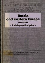 Russia and Eastern Europe, 1789-1985