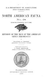 ... Revision of the Mice of the American Genus Peromyscus
