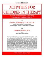 ACTIVITIES FOR CHILDREN IN THERAPY PDF