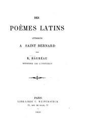Des poèmes latins attribués à Saint Bernard
