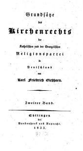 Grundsätze des Kirchenrechts der katholischen und der evangelischen Religionspartei in Deutschland: Band 2