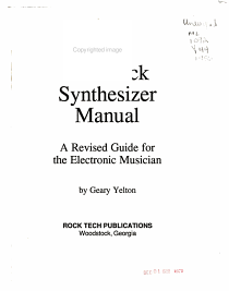 The Rock Synthesizer Manual PDF