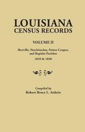 Louisiana Census Records: Iberville, Natchitoches, Pointe Coupee, and Rapides parishes, 1810 & 1820