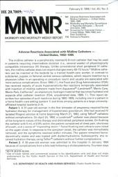 Morbidity and Mortality Weekly Report: MMWR, Volume 45, Issue 5