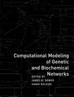 Computational Modeling of Genetic and Biochemical Networks PDF