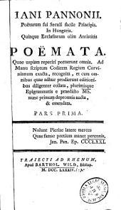 Jani Pannonii,...Poemata...Opuscula