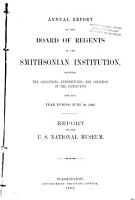 Report Upon the Condition and Progress of the U S  National Museum During the Year Ending June 30     PDF