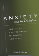 Anxiety and Its Disorders Book