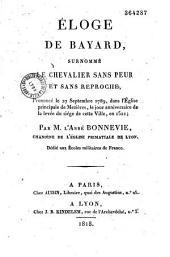 Eloge de Bayard, surnommé le Chevalier sans peur et sans reproche: prononcé le 27 septembre 1789...