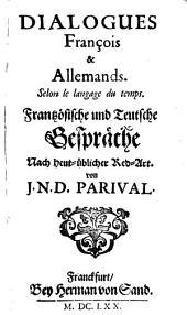Dialogues François et Allemans selon le langage du temps