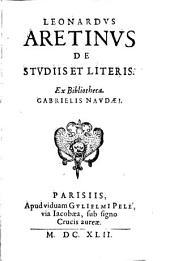 De studiis et literis: ex. Bibliotheca Gabr. Naudaei