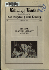 Library Books: Monthly Bulletin of the Los Angeles Public Library, Volume 9, Issue 8