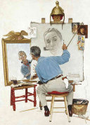 Norman Rockwell s Triple Self Portrait Notebook