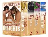 Risqué Girl Delights Boxed Set: A touch of romance, a ménage or…both.