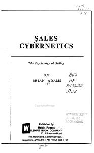 Sales Cybernetics PDF