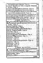 Compendium vitae B. V. Teresiae a Jesu Fundatricis Fratrum Discalceatorum...