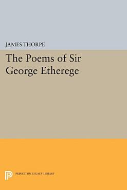 The Poems of Sir George Etherege PDF