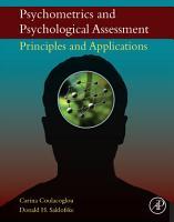 Psychometrics and Psychological Assessment PDF