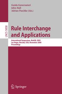 Rule Interchange and Applications PDF