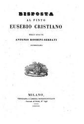 Risposta al finto Eusebio Cristiano