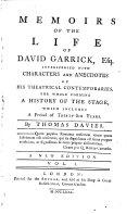 Memoirs of the life of David Garrick