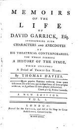 Memoirs of the life of David Garrick: Volume 1
