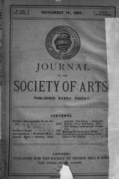 Journal of the Royal Society of Arts ...: Volume 32