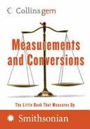 Measurements and Conversions (Collins Gem)