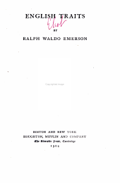 The complete works of Ralph Waldo Emerson: Volume 5