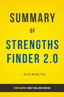 StrengthsFinder 2 0  by Tom Rath   Summary and Analysis PDF