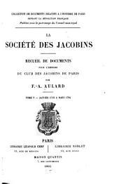 La société des Jacobins: Recueil de documents pour l'histoire du club des Jacobins de Paris, Volume5