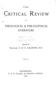 The Critical Review of Theological and Philosophical Literature PDF