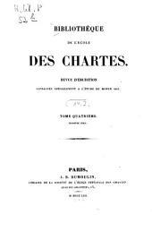 Bibliothèque de l'Ecole des Chartes: revue d'érudition, Volume14