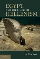 Egypt and the Limits of Hellenism PDF