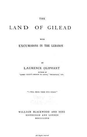 The Land of Gilead