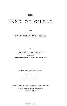 The Land of Gilead PDF