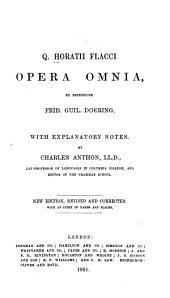 Q.Horatii Flacci opera omnia