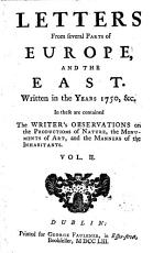 Letters from Several Parts of Europe  and the East PDF
