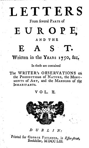 Letters from Several Parts of Europe  and the East