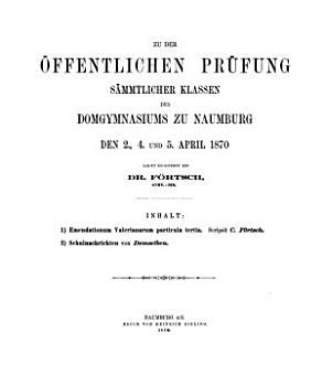 Zu der   ffentlichen Pr  fung s  mmtlicher Klassen des Domgymnasiums zu Naumburg     ladet ergebenst ein PDF