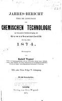 Jahresberichte   ber die leistungen der chemischen technologie PDF