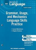 Elements of Language  Grade 10 Grammar  Usage  and Mechanics Language Skills Practice PDF